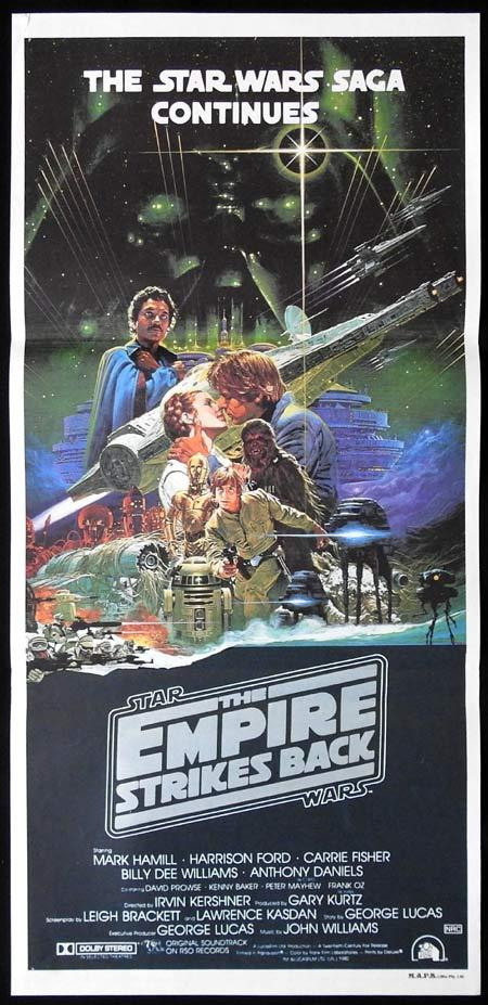 THE EMPIRE STRIKES BACK Star Wars Original Daybill Movie poster