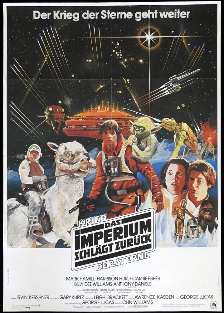 THE EMPIRE STRIKES BACK Original GERMAN Movie Poster