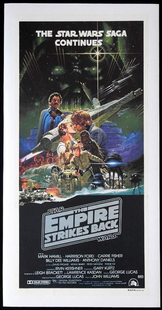 THE EMPIRE STRIKES BACK Star Wars Daybill Movie poster LINEN BACKED