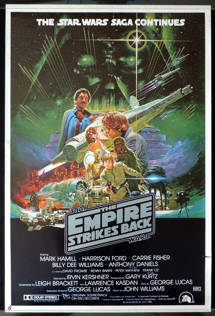 The Empire Strikes Back Star Wars Australian One Sheet Movie Poster Rolled