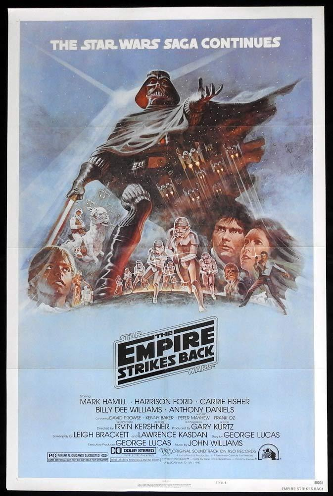 THE EMPIRE STRIKES BACK Star Wars ORIGINAL STYLE B US 1sh Poster