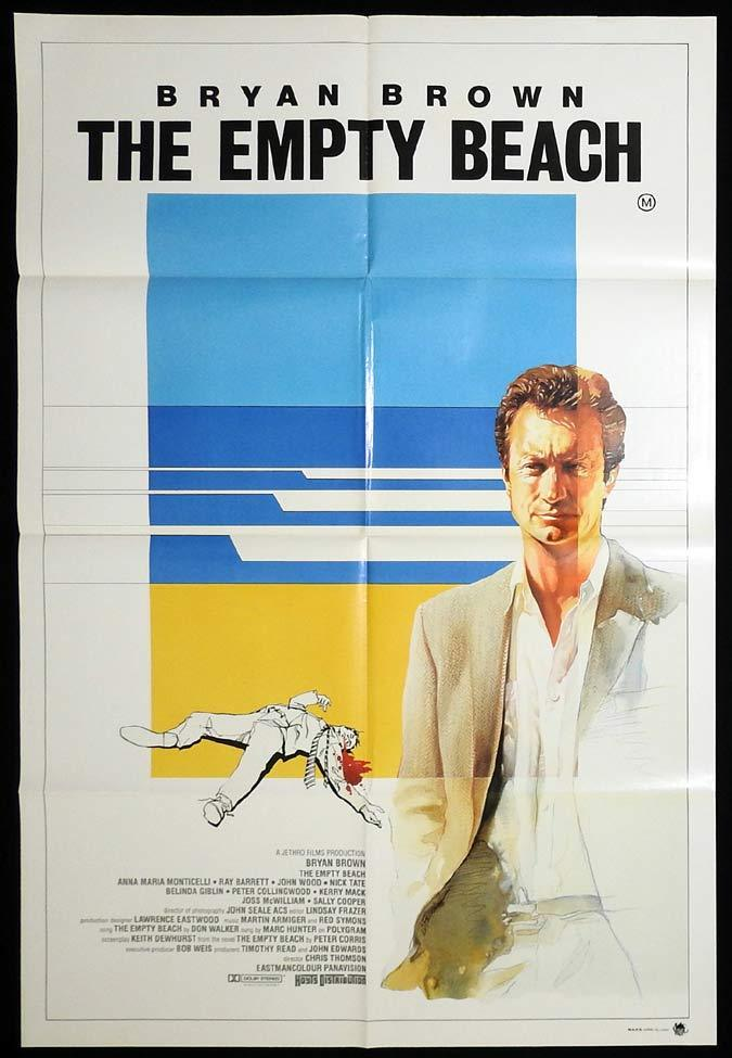 THE EMPTY BEACH Rare Australian One Sheet poster Bryan Brown