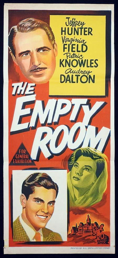 THE EMPTY ROOM Original Daybill Movie poster Jeffrey Hunter Evelyn Ankers