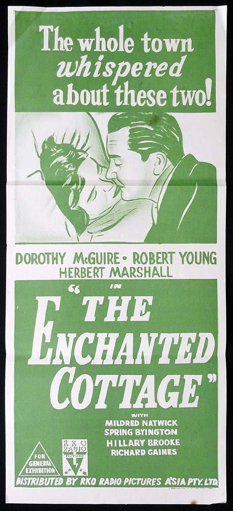 THE ENCHANTED COTTAGE Original Daybill Movie poster RKO Robert Young Dorothy McGuir