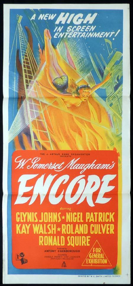 ENCORE Original Daybill Movie Poster Nigel Patrick Glynis Johns