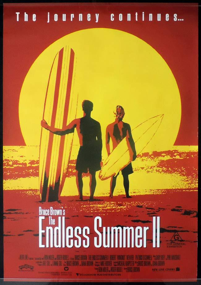ENDLESS SUMMER II Original One sheet Movie poster Surfing
