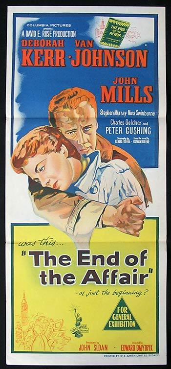 THE END OF THE AFFAIR Original Daybill Movie poster Deborah Kerr