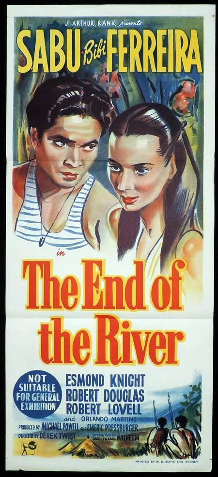THE END OF THE RIVER Original Daybill Movie Poster SABU Bibi Ferreira