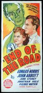 END OF THE ROAD Original Daybill Movie Poster Edward Norris Film Noir