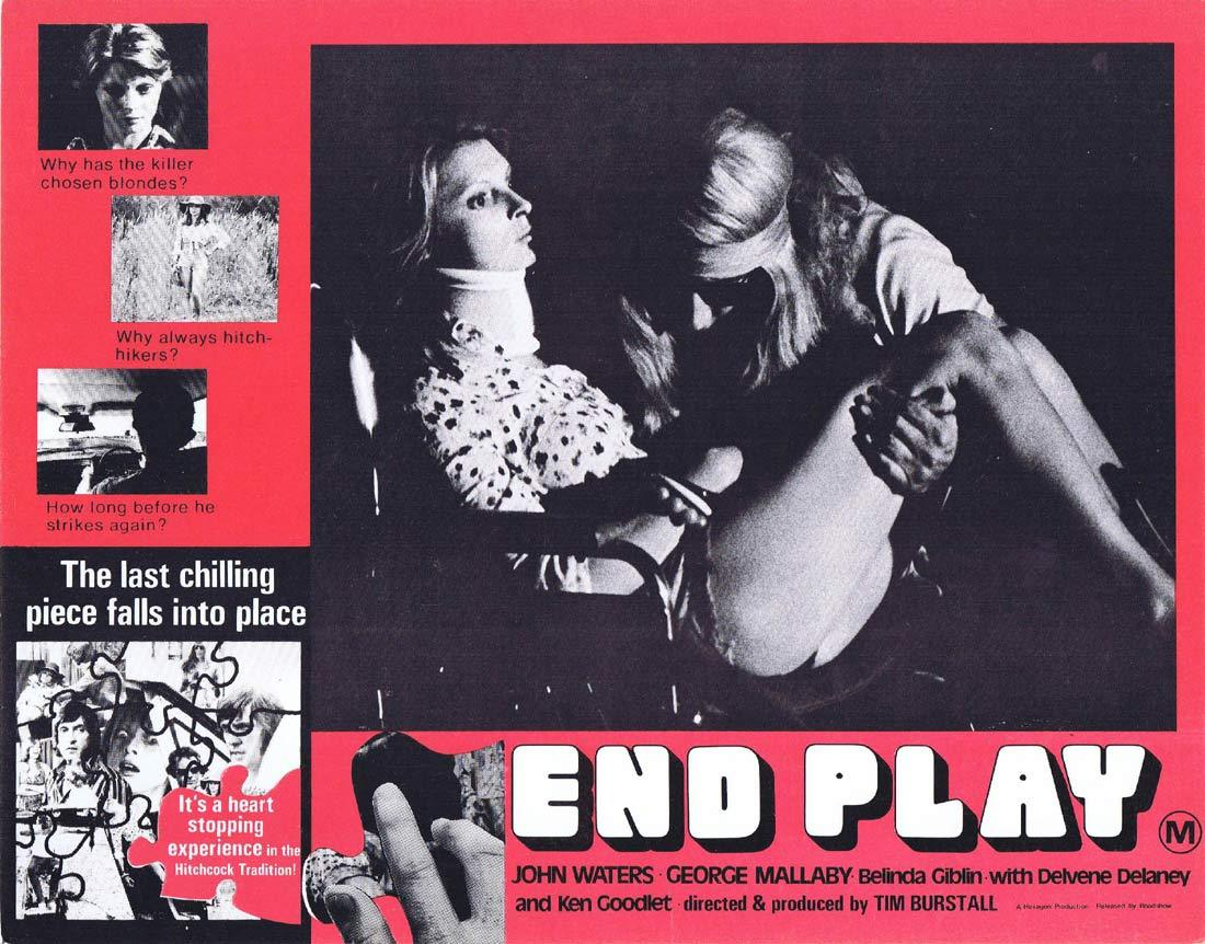 END PLAY Original Lobby Card 2 John Waters Belinda Giblin