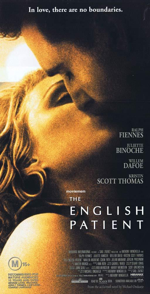 THE ENGLISH PATIENT Original Daybill Movie Poster Ralph Fiennes Juliette Binoche
