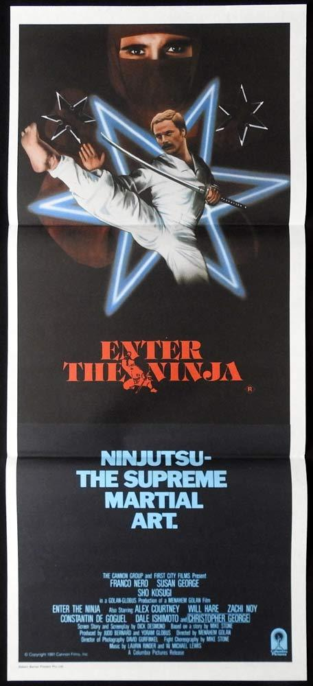 ENTER THE NINJA Rare Daybill Movie Poster Franco Nero Susan George Shô Kosugi