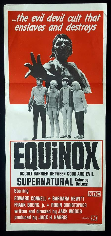 EQUINOX daybill Movie poster SUPERNATURAL Horror Evil Devil Cult