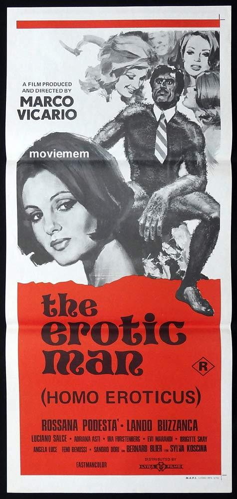 THE EROTIC MAN aka HOMO EROTICUS aka MAN OF THE YEAR Daybill Movie Poster Sexploitation