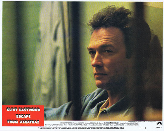 ESCAPE FROM ALCATRAZ Lobby Card 1 Clint Eastwood