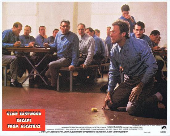 ESCAPE FROM ALCATRAZ Lobby Card 4 Clint Eastwood Prison break