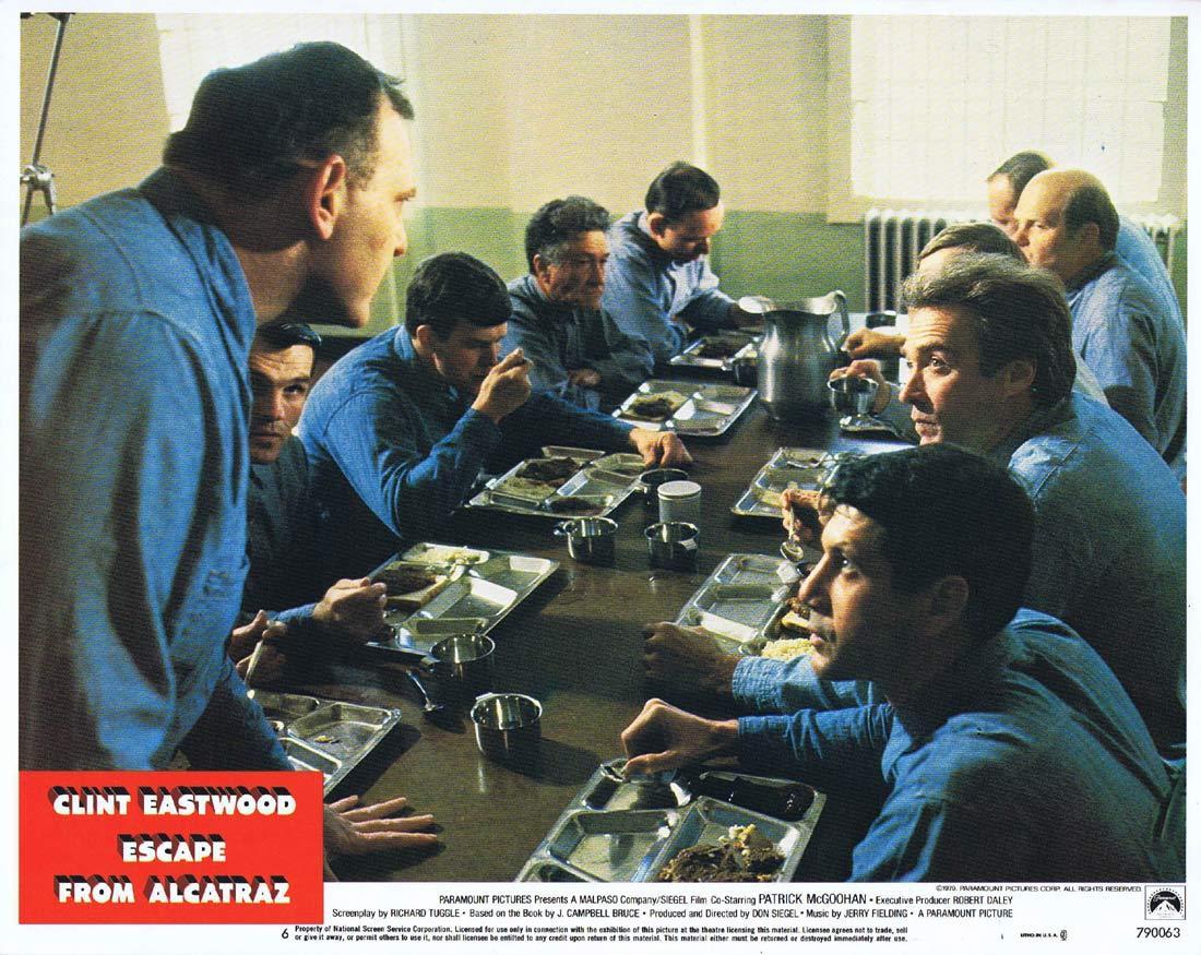 ESCAPE FROM ALCATRAZ Lobby Card 6 Clint Eastwood
