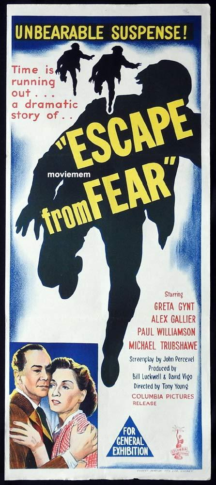 ESCAPE FROM FEAR Original Daybill Movie Poster Greta Gynt Runaway