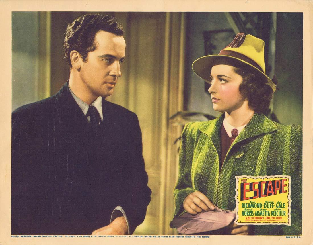 THE ESCAPE Original Lobby Card Kane Richmond Amanda Duff June Gale 1939