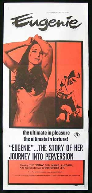 EUGENIE '70-Christopher Lee-Jesus Franco-Sexploitation/Horror poster