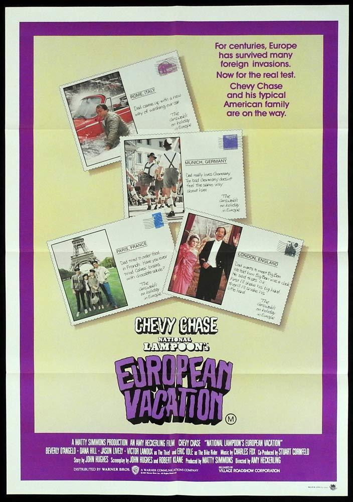NATIONAL LAMPOON'S EUROPEAN VACATION One sheet Movie Poster Chevy Chase