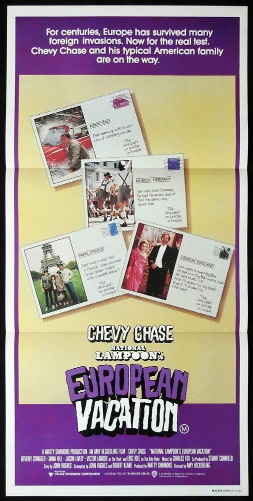 NATIONAL LAMPOON'S EUROPEAN VACATION Daybill Movie Poster Chevy Chase