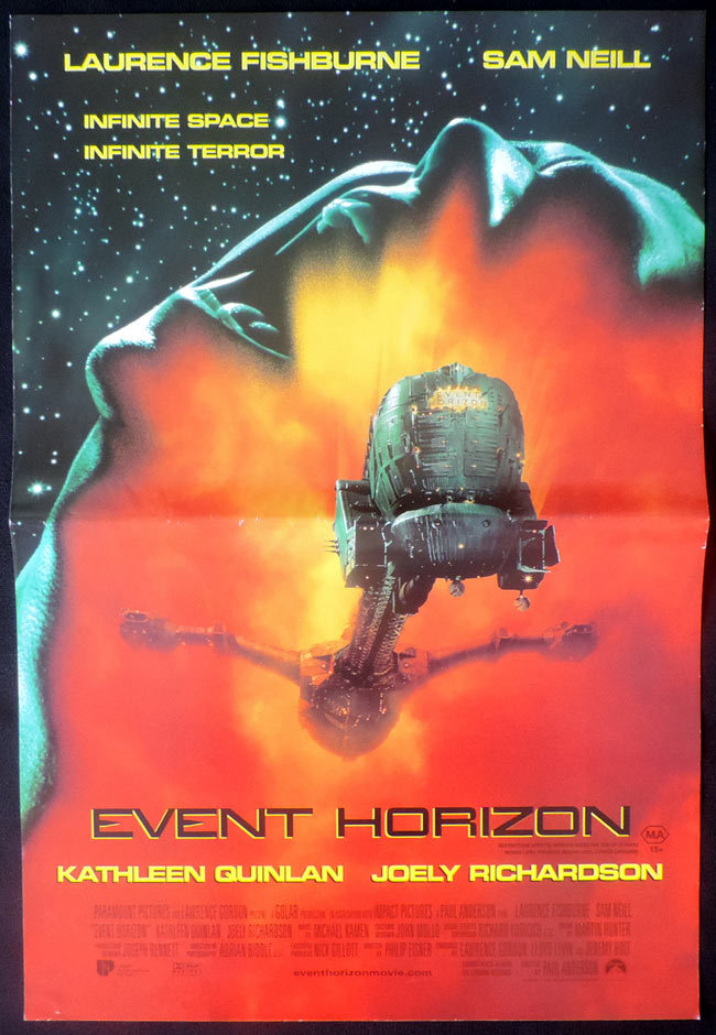 EVENT HORIZON Original Daybill Movie poster Laurence Fishburne Sam Neill