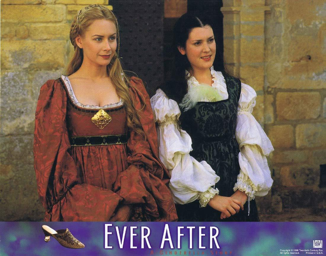 EVER AFTER Original Lobby Card 3 Drew Barrymore Anjelica Huston