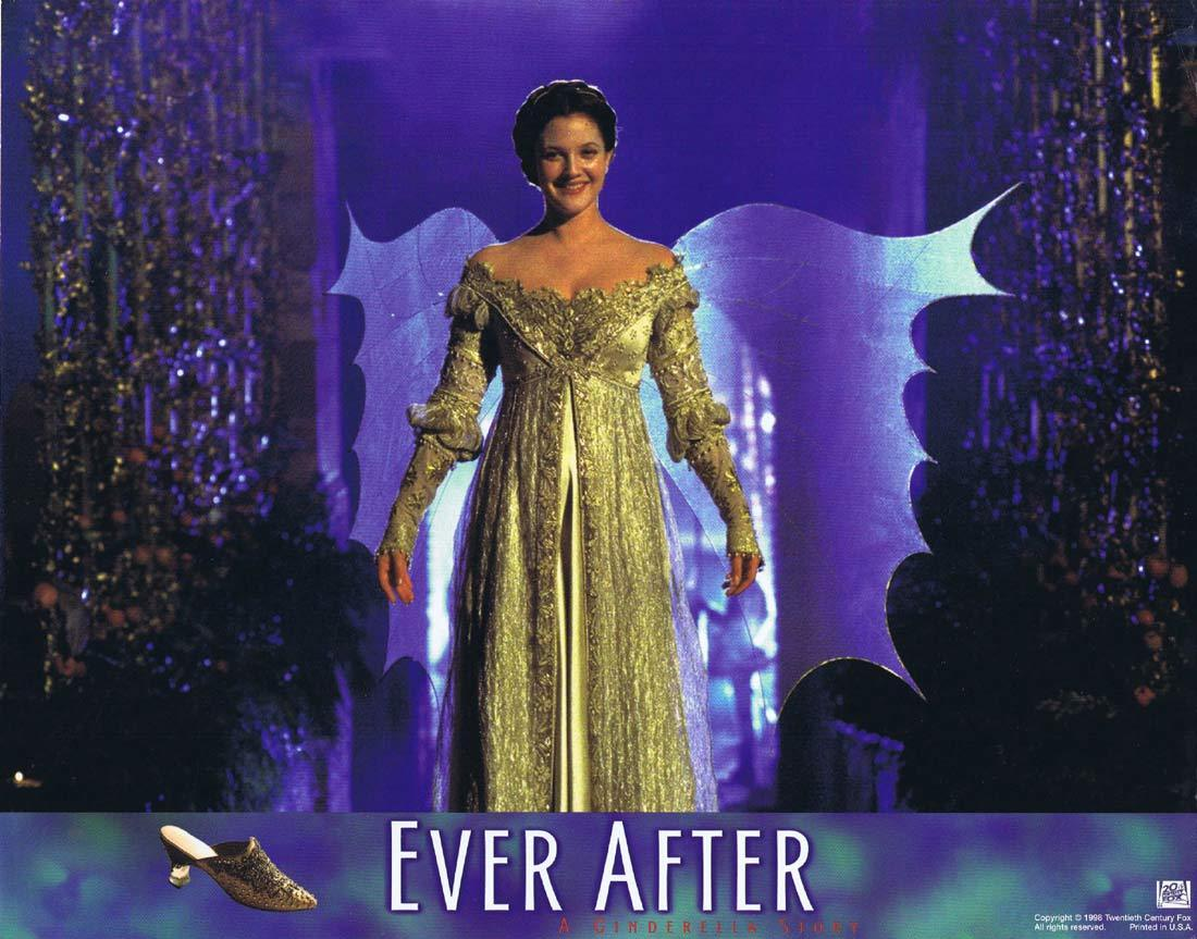 EVER AFTER Original Lobby Card 4 Drew Barrymore Anjelica Huston