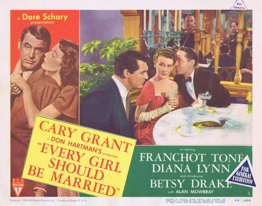 EVERY GIRL SHOULD BE MARRIED Lobby Card 2 Betsy Drake Cary Grant Franchot Tone
