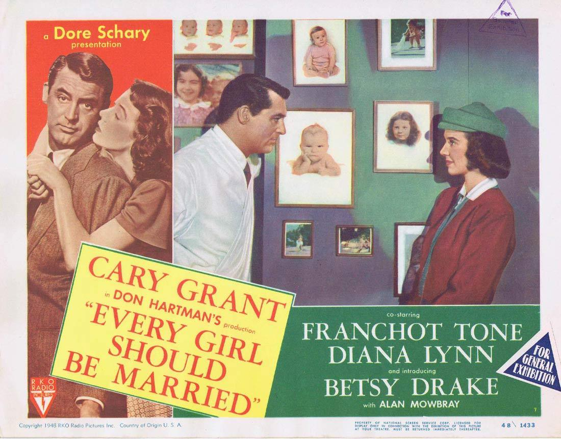 EVERY GIRL SHOULD BE MARRIED Lobby Card 7 Betsy Drake Cary Grant Franchot Tone