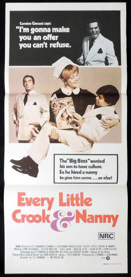 EVERY LITTLE CROOK AND NANNY Original Daybill Movie Poster Victor Mature