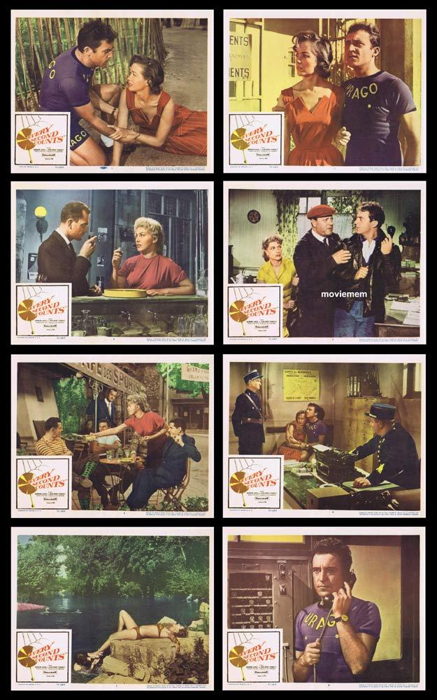 EVERY SECOND COUNTS Original Lobby Card set Barbara Laage