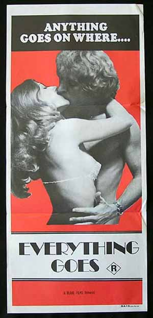 EVERYTHING GOES 70s Original Sexploitation poster