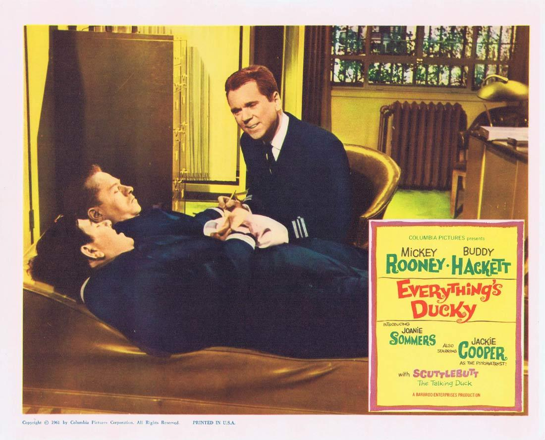EVERYTHINGS DUCKY Lobby Card 2 Mickey Rooney Buddy Hackett Jackie Cooper