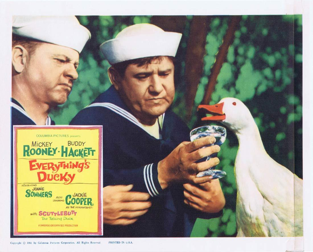 EVERYTHINGS DUCKY Lobby Card 4 Mickey Rooney Buddy Hackett Jackie Cooper