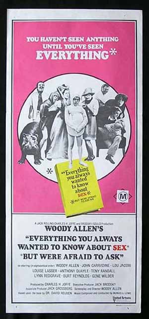 EVERYTHING YOU ALWAYS WANTED TO KNOW ABOUT SEX Gene Wilder daybill Movie poster