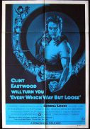 EVERY WHICH WAY BUT LOOSE 1978 Clint Eastwood 1sh Movie poster