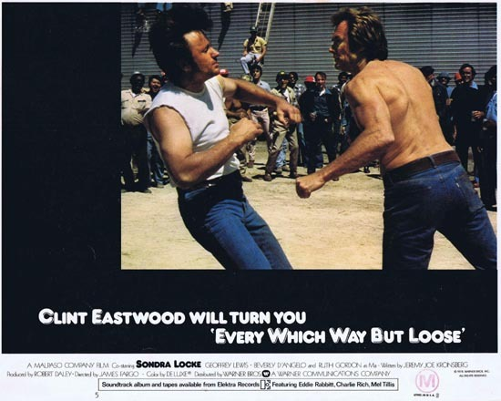 EVERY WHICH WAY BUT LOOSE 1978 Clint Eastwood Lobby Card 5