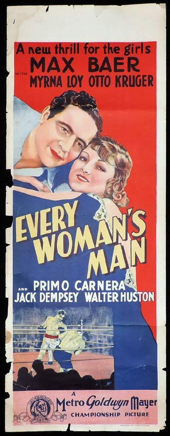 EVERY WOMAN'S MAN Long Daybill Movie poster 1933 Primo Carnera Jack Dempsey Boxing