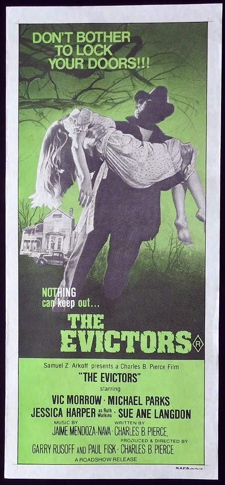 THE EVICTORS Original Daybill Movie Poster Vic Morrow Michael Parks