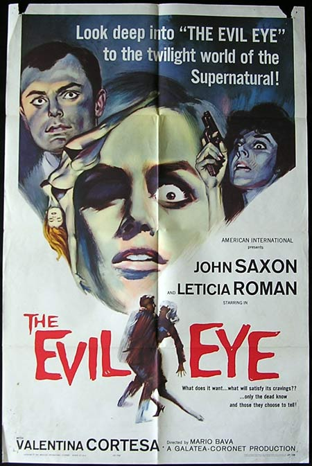 THE EVIL EYE Original US One sheet poster GIALLO Mario Bava