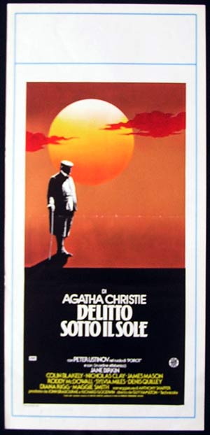EVIL UNDER THE SUN Original Locandina Movie Poster Agatha Christie