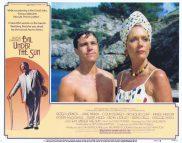 EVIL UNDER THE SUN Lobby Card 5 Peter Ustinov Diana Rigg  Nicholas Clay