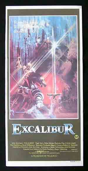 EXCALIBUR daybill Movie poster John Boorman Helen Mirren Nicholas Clay