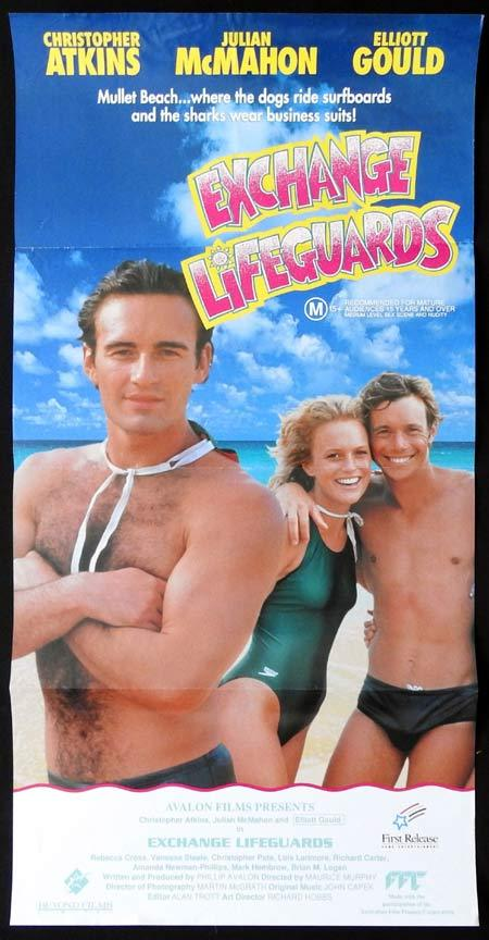 EXCHANGE LIFEGUARDS Original Daybill Movie Poster Christopher Atkins Julian McMahon