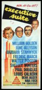 EXECUTIVE SUITE Original Daybill Movie Poster William Holden June Allyson Barbara Stanwyck