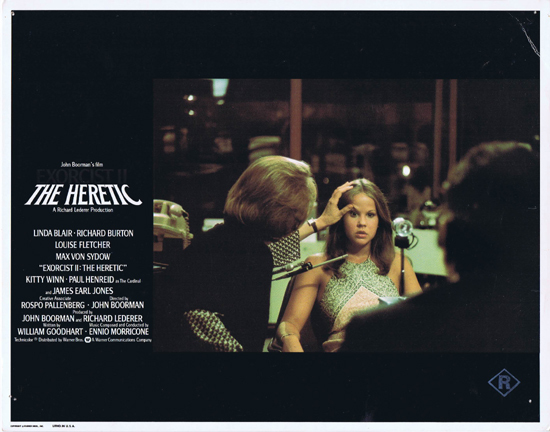 EXORCIST II THE HERETIC Lobby Card Linda Blair Horror