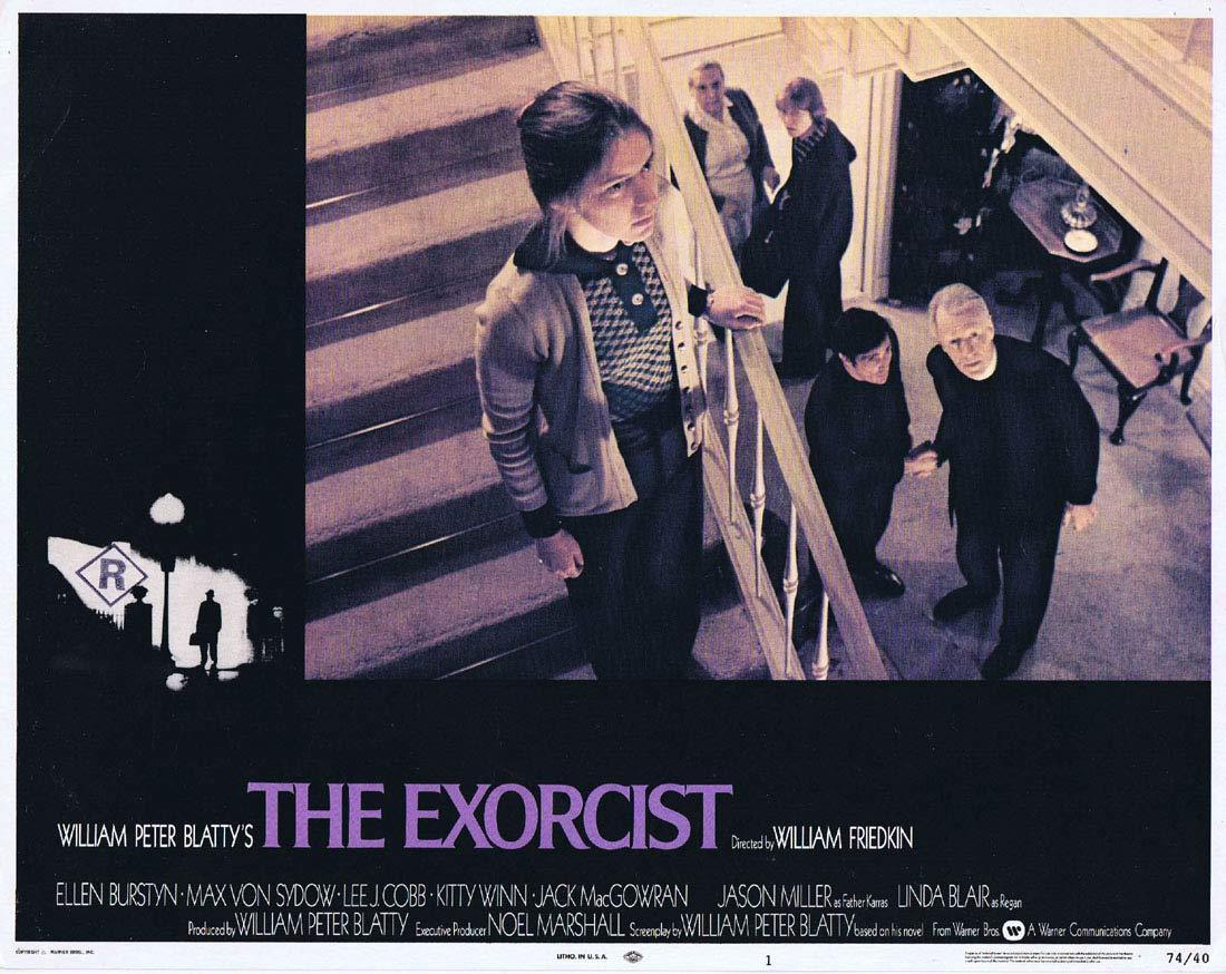 THE EXORCIST Original Lobby Card 1 Linda Blair Horror