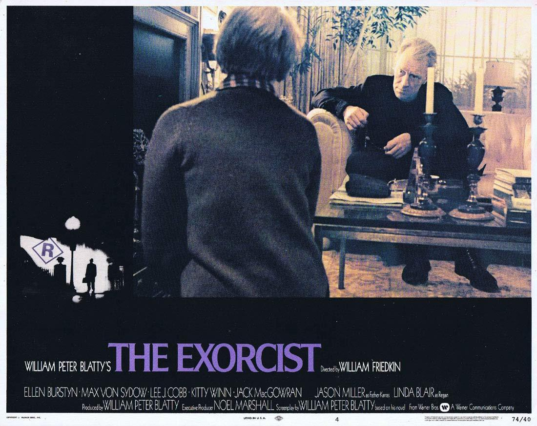 THE EXORCIST Original Lobby Card 4 Linda Blair Horror